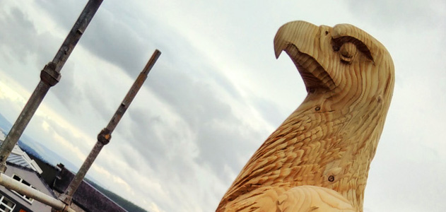 Glenfarclas bird carvings Golden Eagle