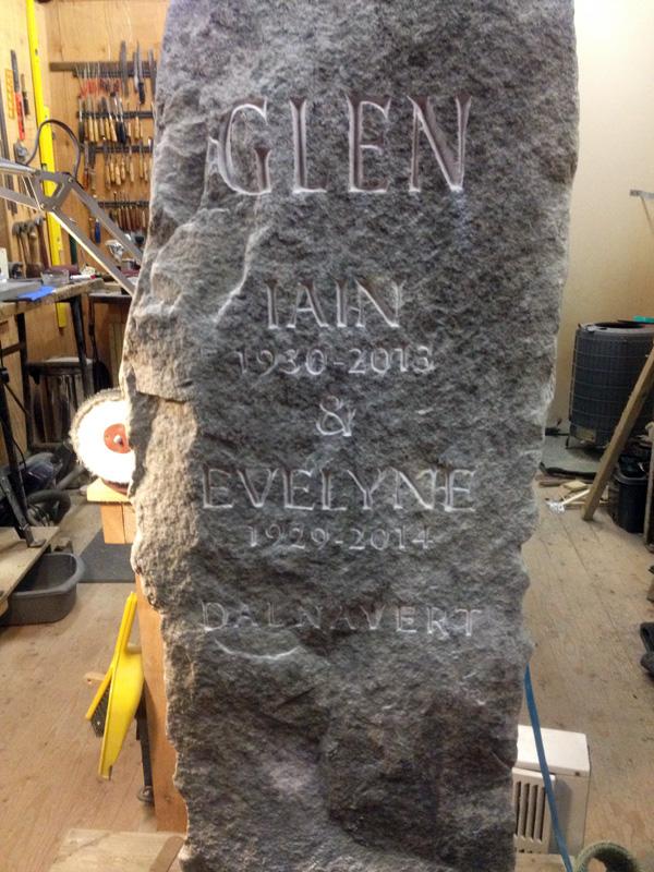 Field stone memorial